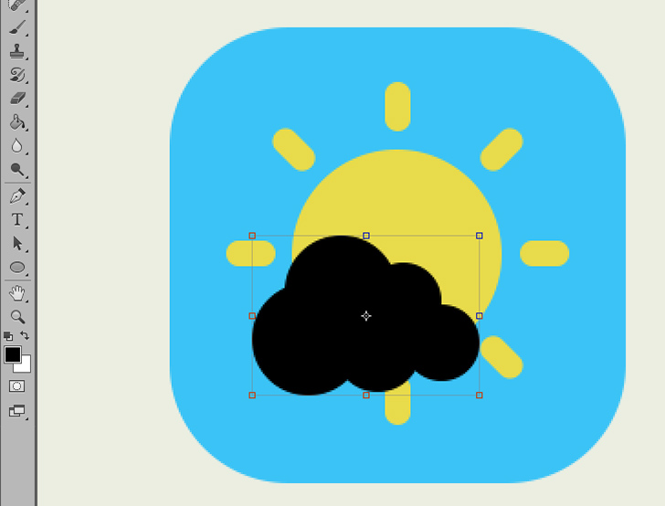 create weather icon in photoshop step 5b