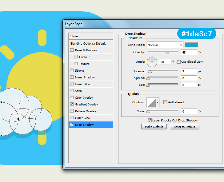 create weather icon in photoshop step 6c