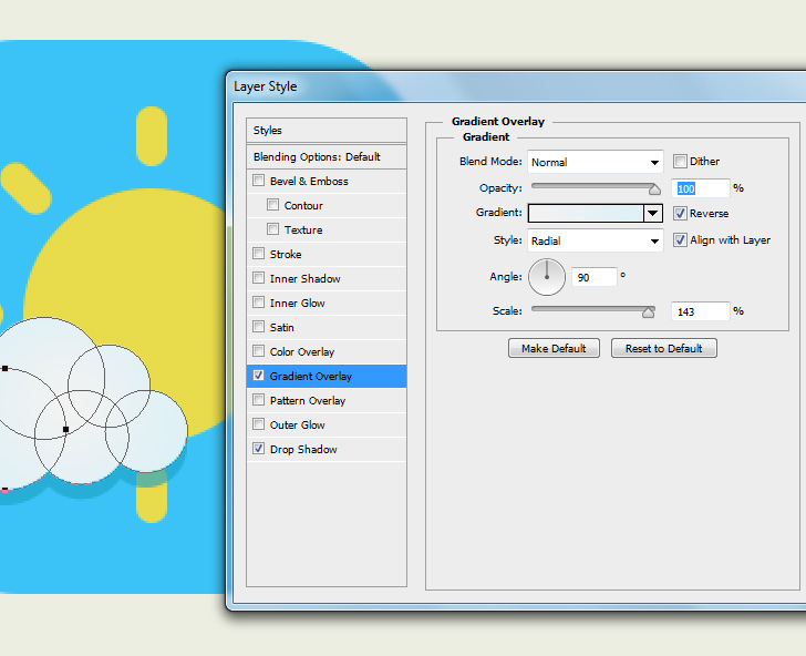 create weather icon in phtoshop step 6d