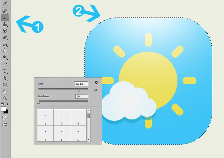 Create weather icon in photoshop step 7