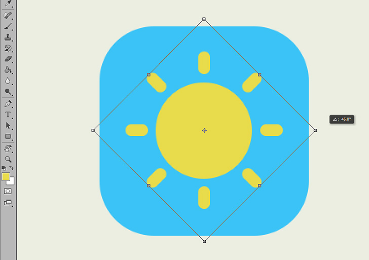 create weather icon in photoshop step 4c