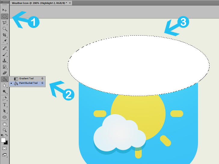 create weather icon in photoshop step 9a