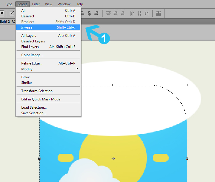 create weather icon in photoshop step 9b