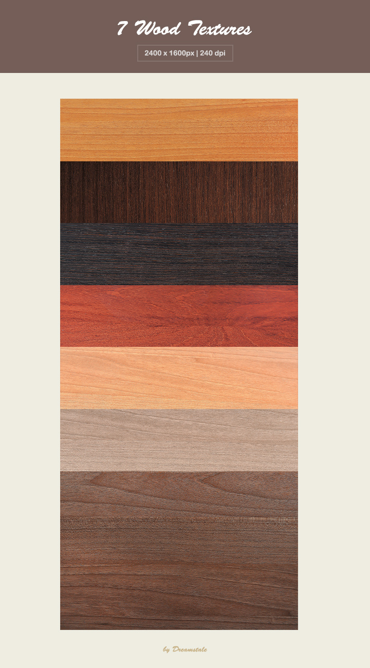 Free Download: 7 Hi-Res Wood Textures