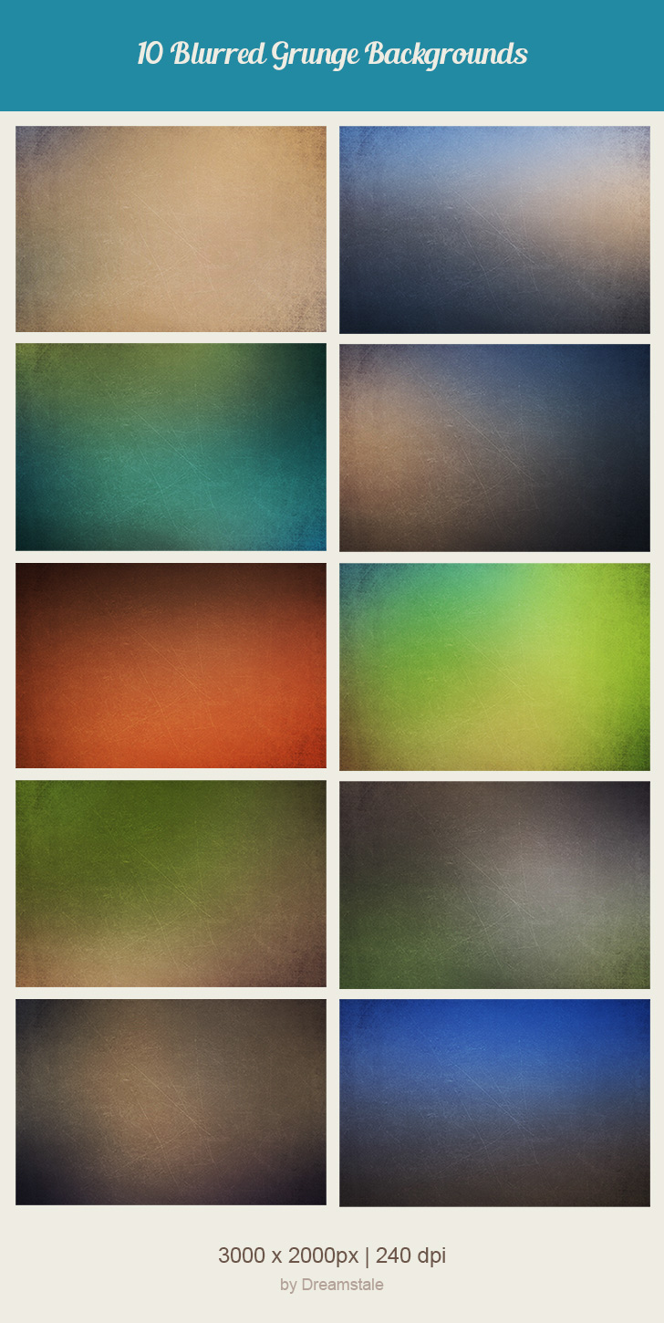 Free Download: 10 Grunge Blurred Backgrounds