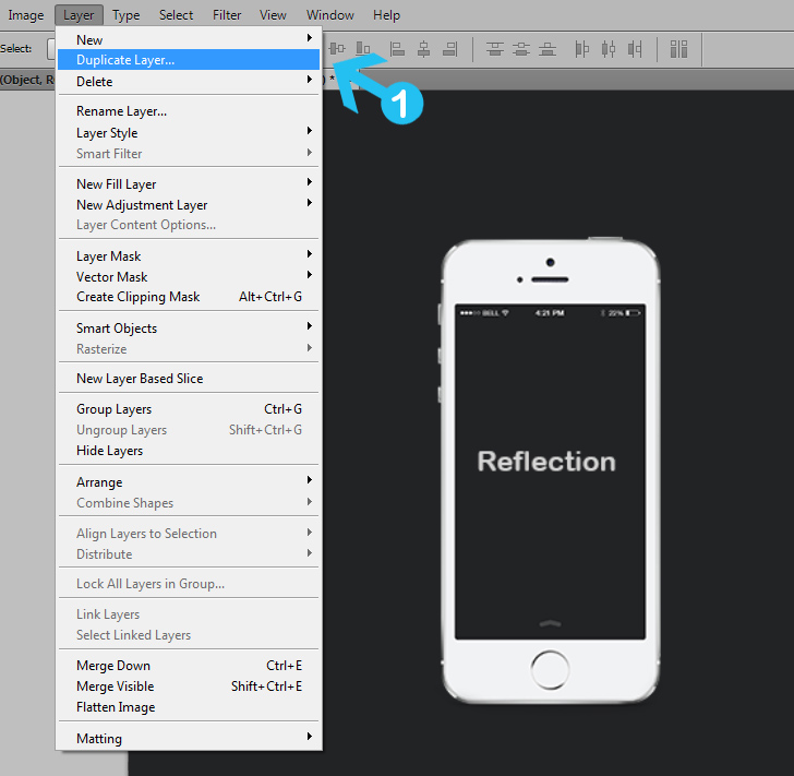 quick tip: create a simple reflection in photoshop