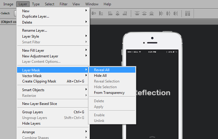 quick tip: create a simple reflection in photoshop - step 4