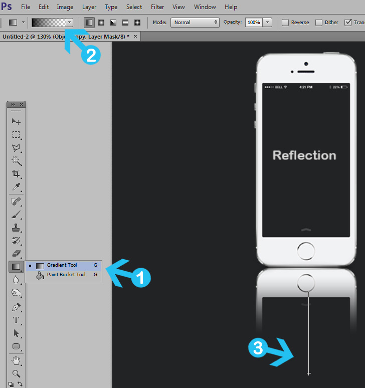 quick tip: create a simple reflection in photoshop - step 5