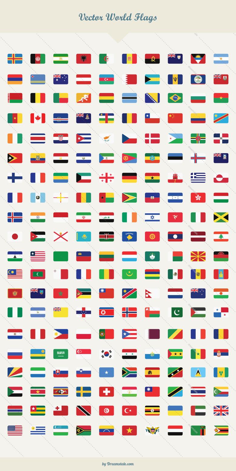 212 premium vector world flags large