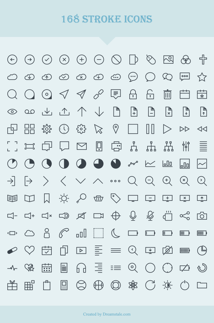 download 168 free vector stroke icons - dreamstale