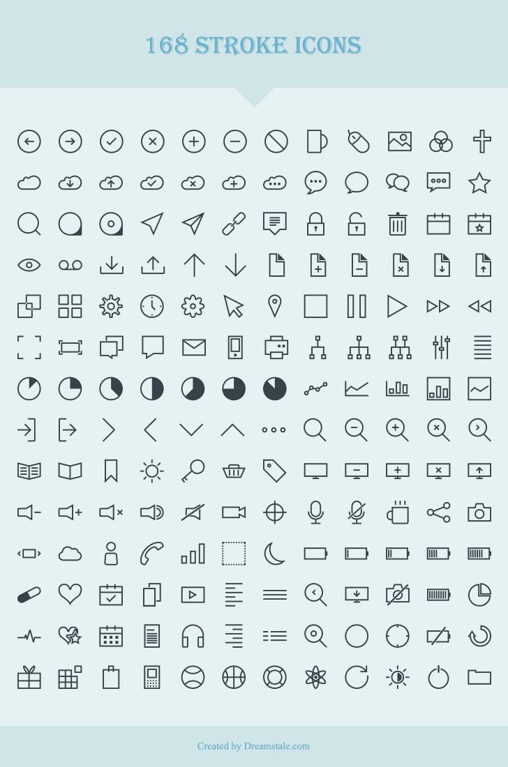 download 168 free vector stroke icons - dreamstale