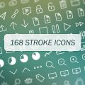 Free Download: 168 Vector Stroke Icons