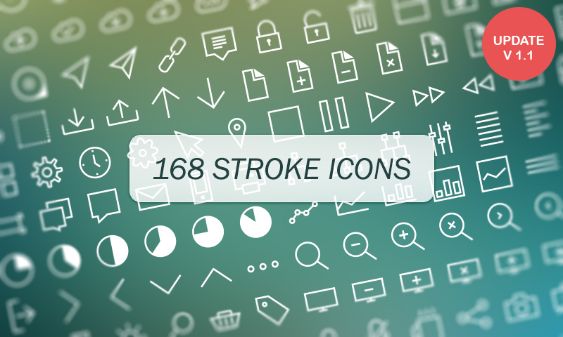 free download 168 vector stroke icons by dreamstale