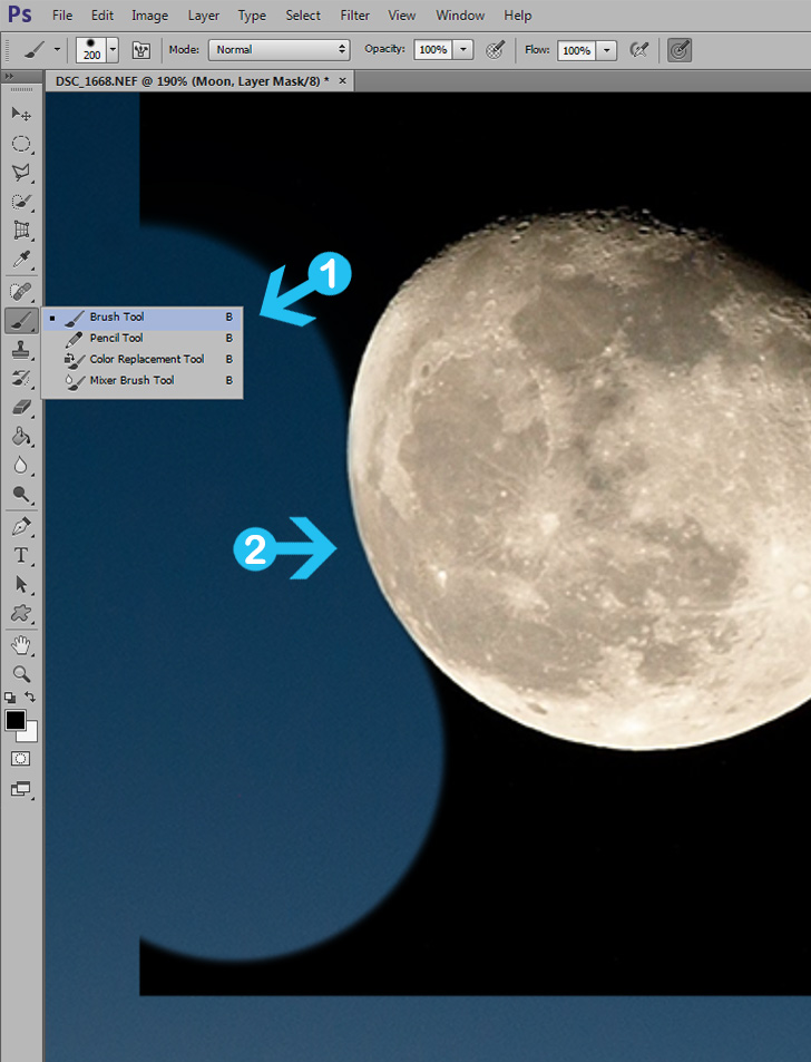 layer mask in photoshop - step 2
