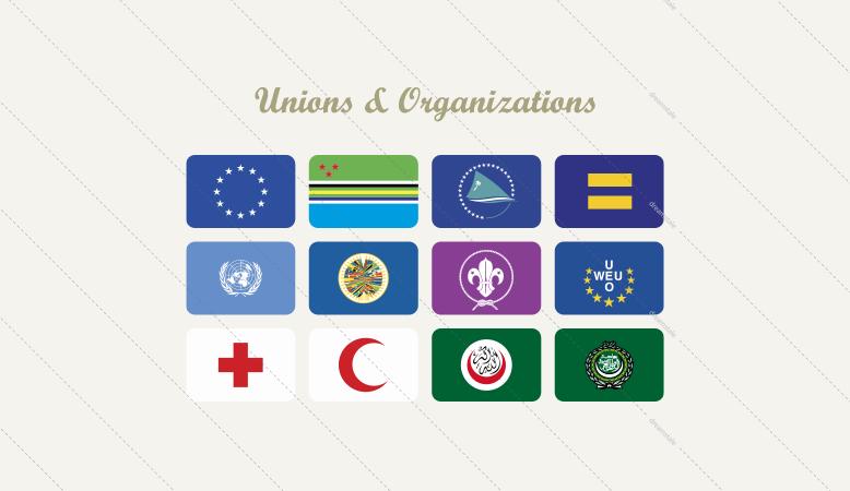 union organization vector flags