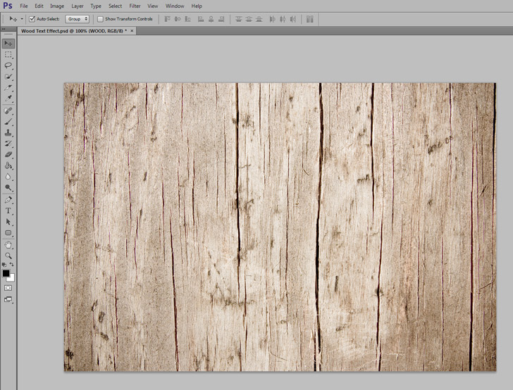 Wood Texture Text Effect In Photoshop Step 1