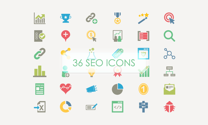 Free Download: 36 SEO Vector Icons - Dreamstale