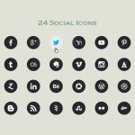 Free Download: 24 Vector Social Icons