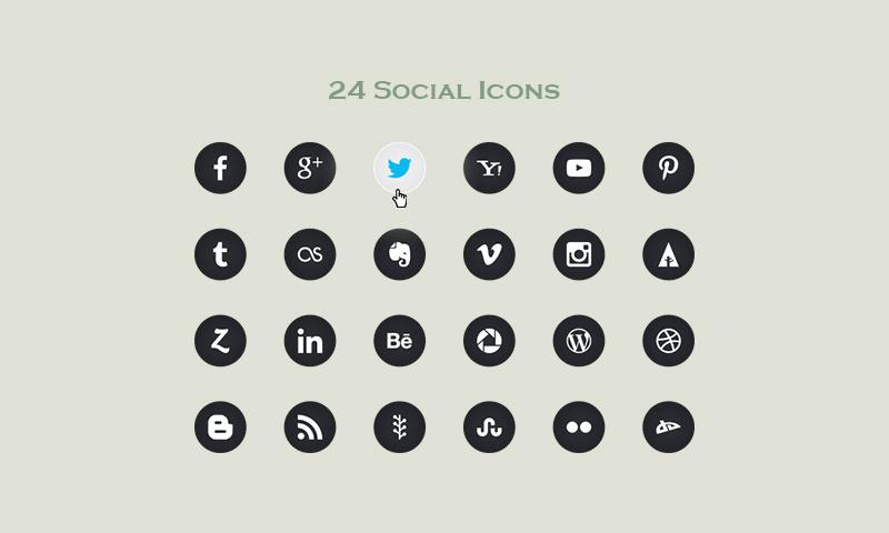 24 Social Icons