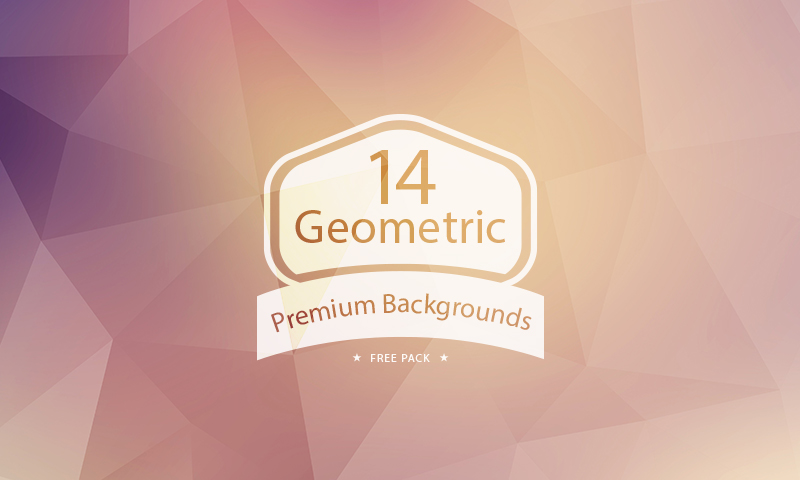 Free Download: 14 Geometric Backgrounds