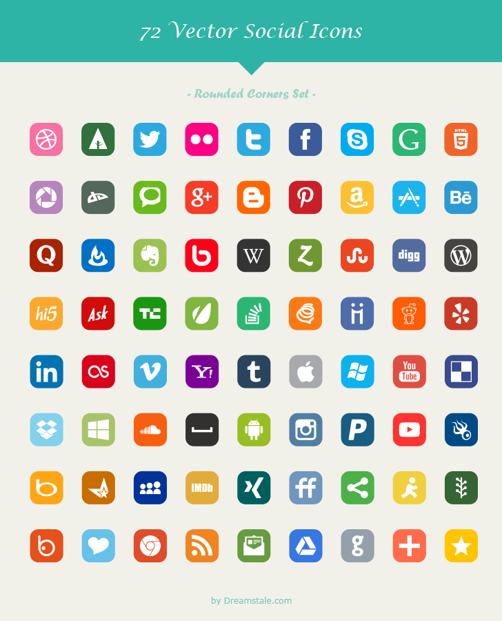 download-72-free-vector-social-icons-rounded-corners-set