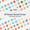 Free Download: 90 Social Media Vector Icons