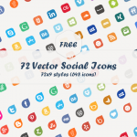Free Download: 72 Social Media Vector Icons