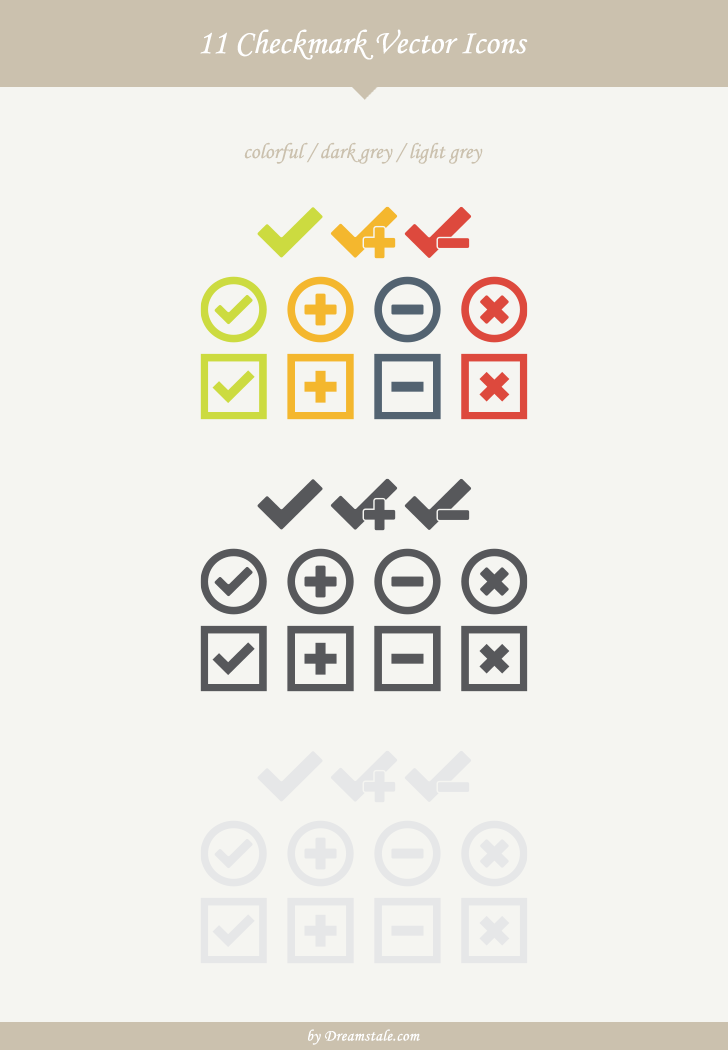 11 checkmark vector icons large preview