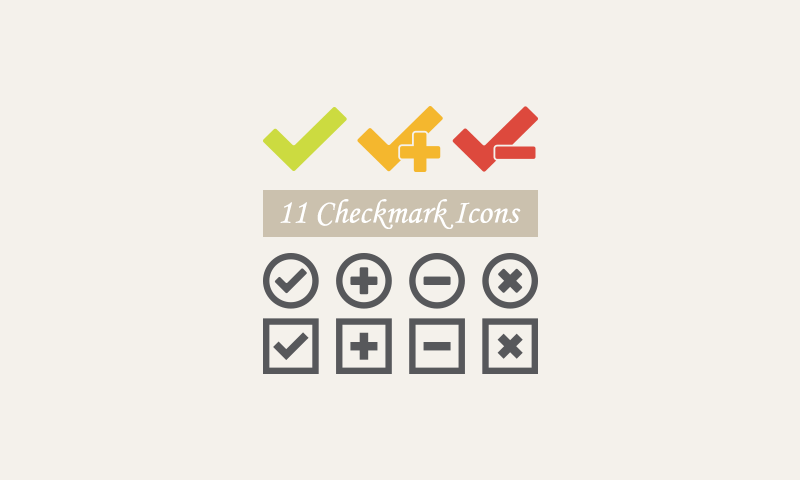 Freebie: Checkmark Vector Icons