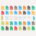 Free Download: 50 File Type Vector Icons