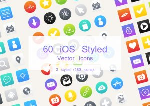 download 60 ios styled vector icons featured
