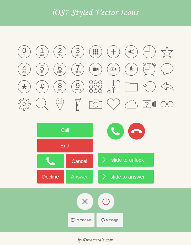 Free Download: iOS Styled Vector Icons & Buttons