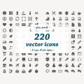 Free Download: 220 Flat Vector Icons