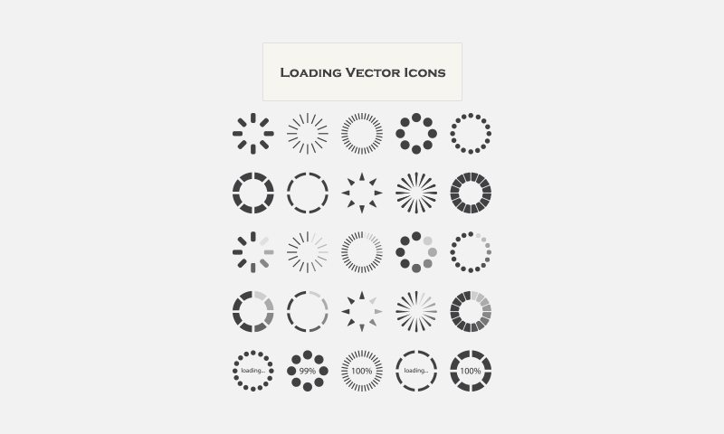 free download 25 loading vector icons
