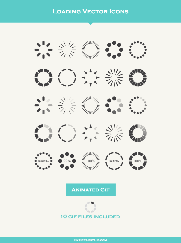 Free Download: 25 Loading Vector Icons