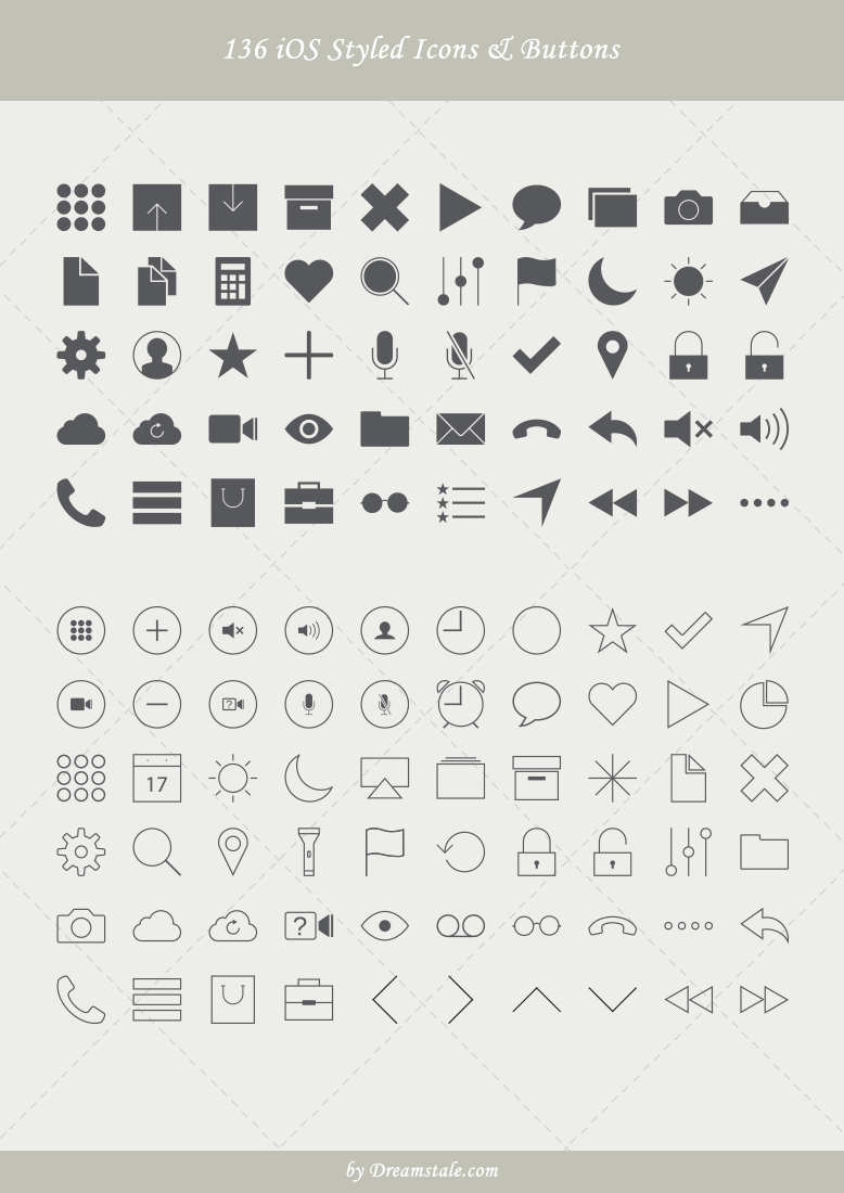 premium ios styled vector icons and buttons 1