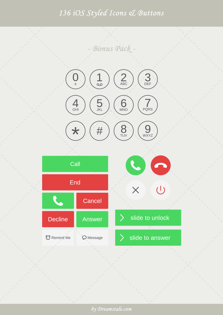 premium ios styled vector icons and buttons 2