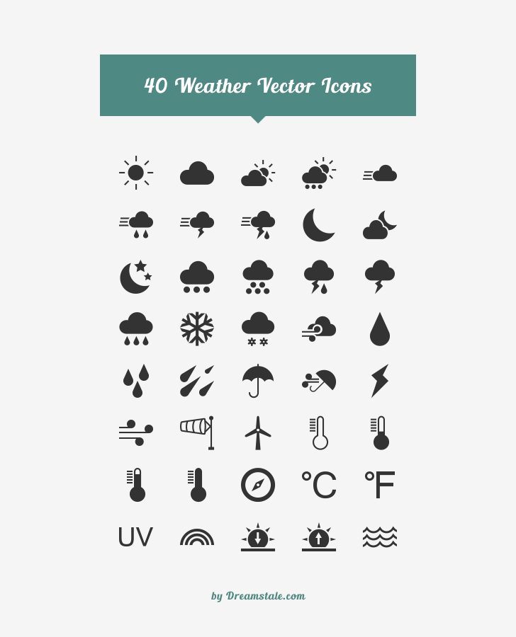 40 free weather vector icons by dreamstale