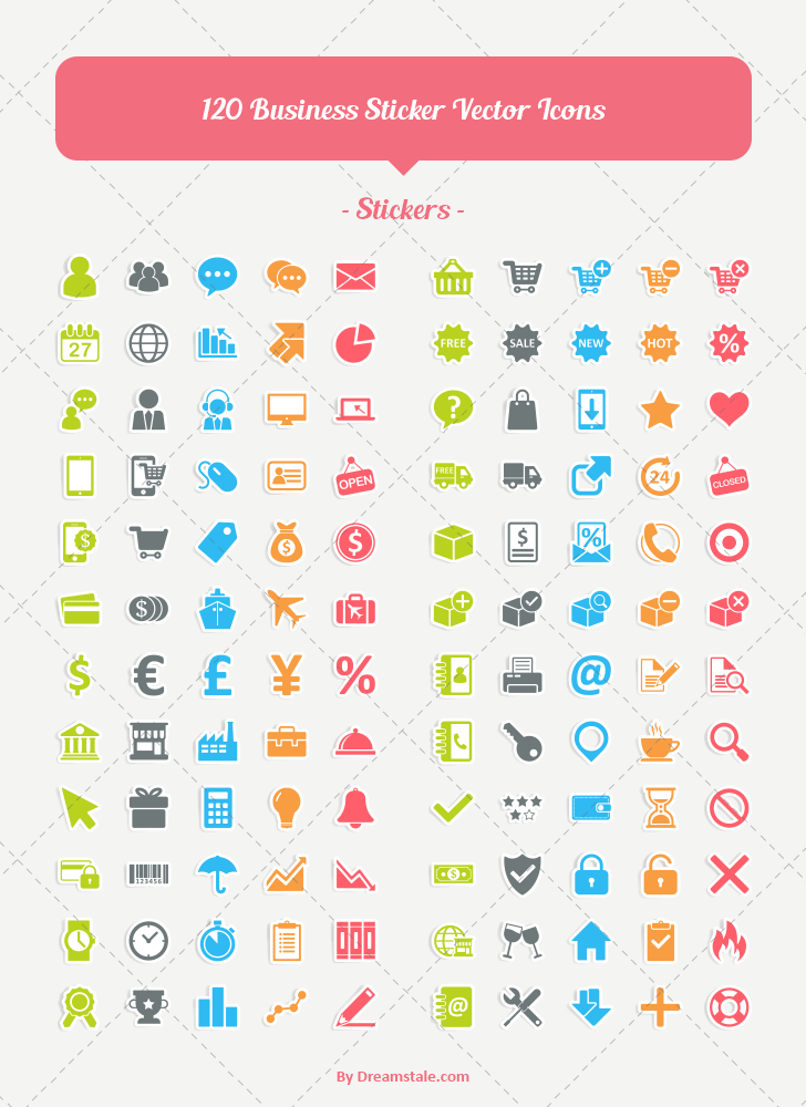 Download 120 business ecommerce vector icons 1