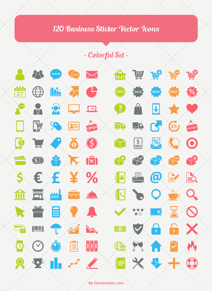 Download 120 business ecommerce vector icons 2