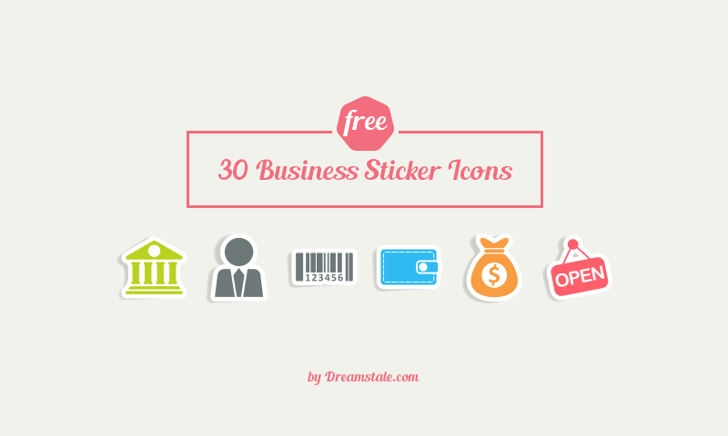Freebie 30 Business Sticker Vector Icons