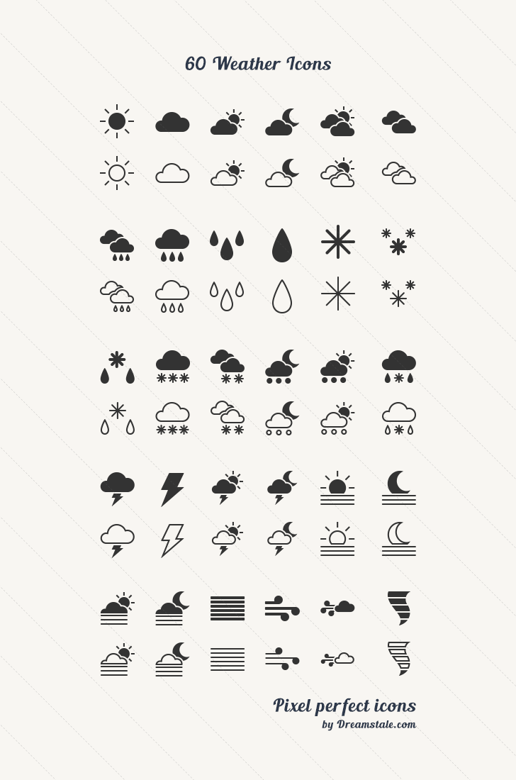download 60 weather vector icons by dreamstale 1
