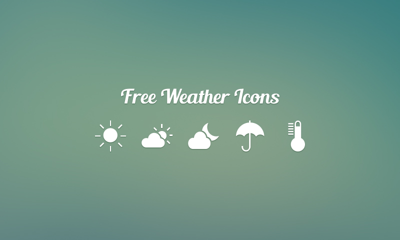 Freebie: 40 Weather Vector Icons