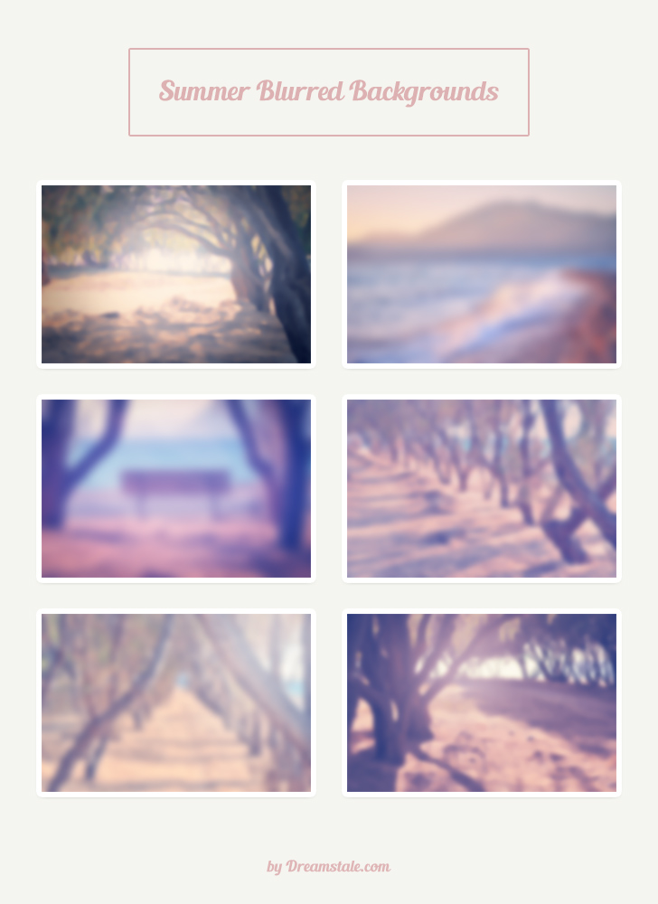 freebie 6 hi-res summer blurred backgrounds