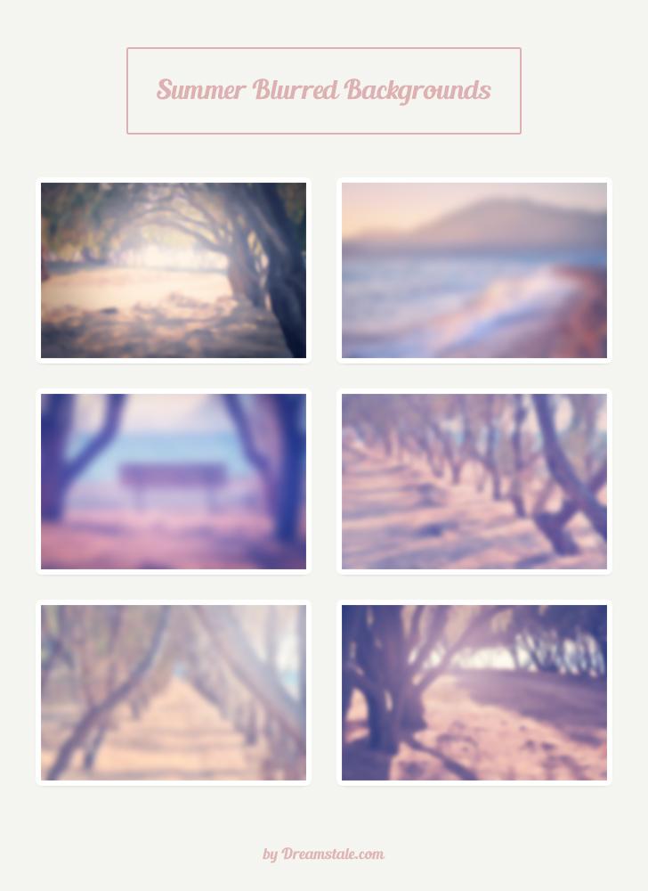 freebie 6 hi-res summer blurred backgrounds