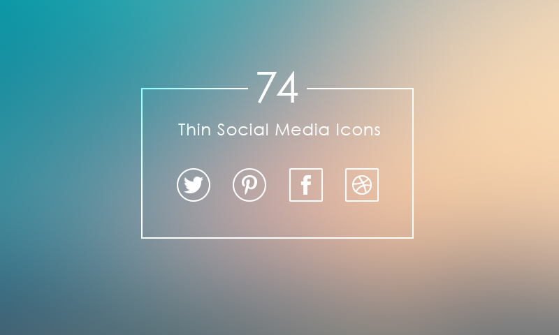 Freebie 74 Thin Social Media Icons Dreamstale