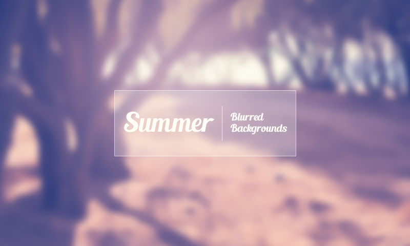 Freebie: Summer Blurred Backgrounds Set