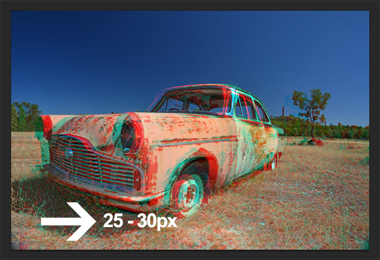 3d anaglyph effect in photoshop step4