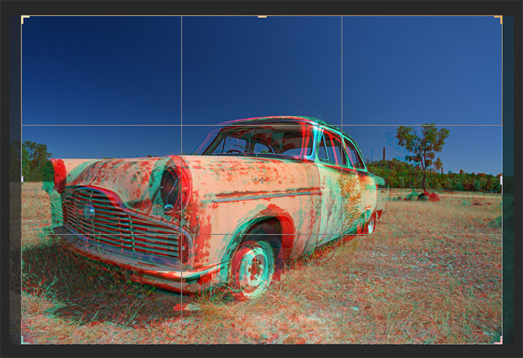 3d anaglyph effect in photoshop step5