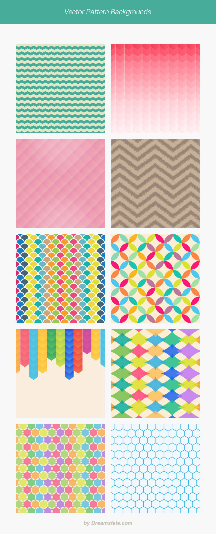 Freebie: Vector Pattern Backgrounds - Dreamstale